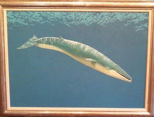 Richard Ellis Blue Whale Oil Painting