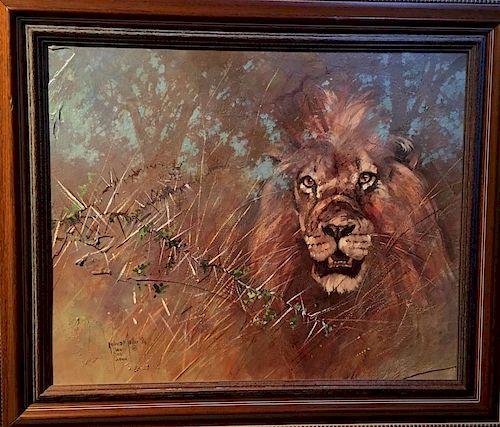 Kobus Moller Lion Painting