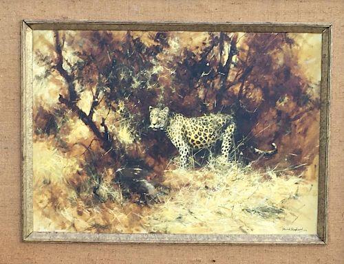 David Shepherd Wildlife oil Painting Leopard