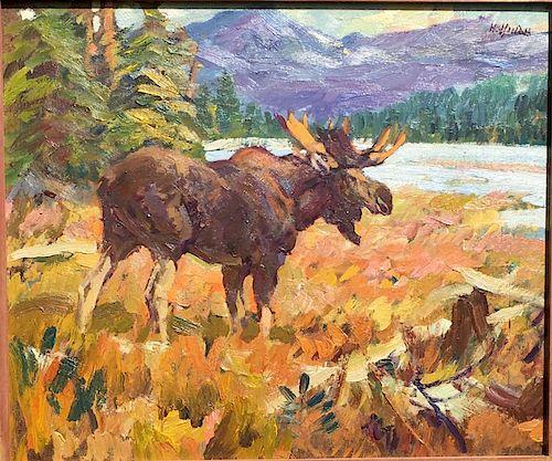 Frank B. Hoffman (1888-1958) Wildlife oil painting