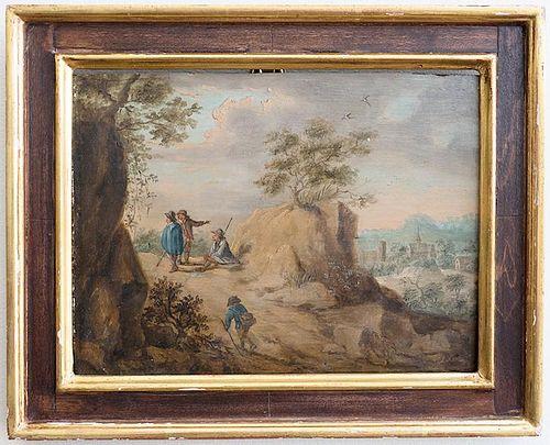 Old Master Flemish landscape Teniers style