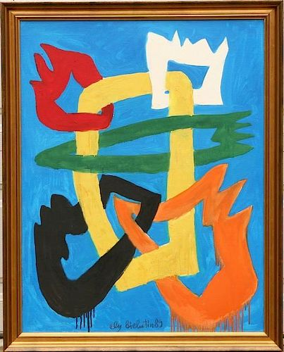 Ely Bielutin Russian Abstract Oil on Canvas