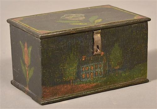 Jonas Weber Painted Pine Trinket Box.