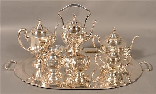 Moreno Sterling 7 Piece Coffee and Tea Service.