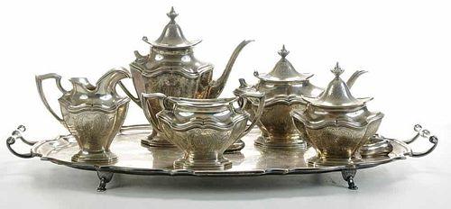 Five-Piece Sterling Tea Service