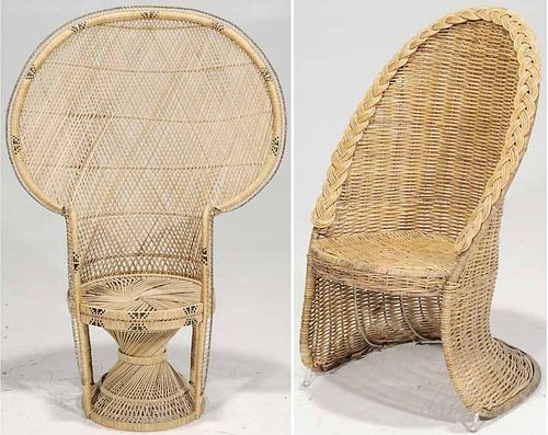 Two Cane/Rattan Chairs
