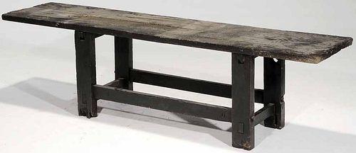 Vintage Work Bench on Trestle-Form