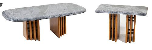 Pair of Contemporary Pedestal Tables
