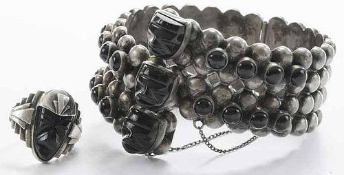 Sterling Hinged Cuff Bracelet