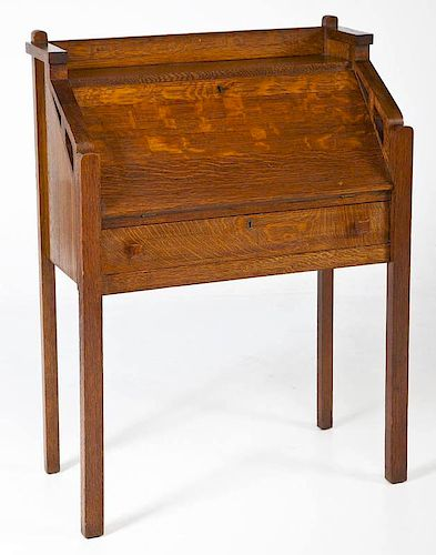 Arts and Crafts Fall Front Writing Desk