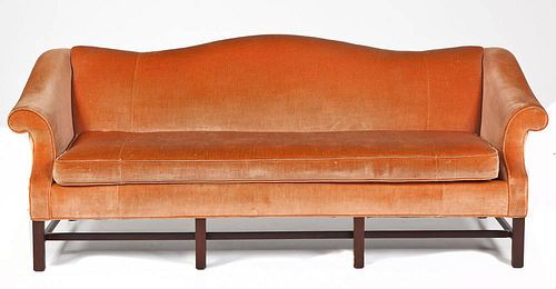 Chippendale Revival Camelback Sofa