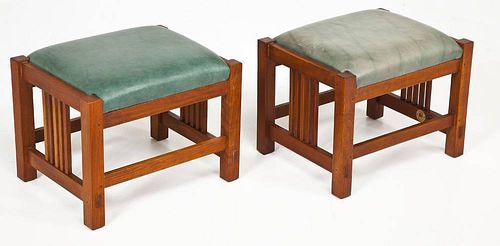 Pair of Stickley Footstools