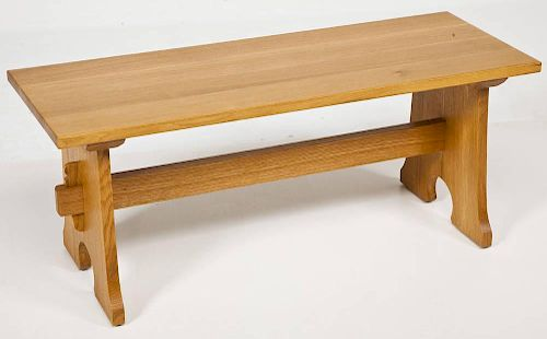 Stickley Wooden Bench
