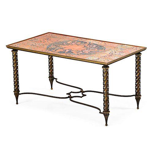 JEAN MAYODON; PROBABLY GILBERT POILLERAT Fine table