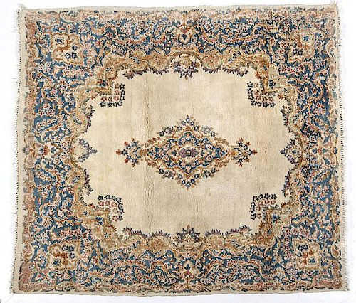 Semi-Antique Iran Kerman Area Rug