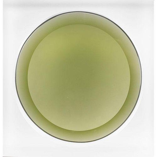 FRANTISEK VIZNER Cast glass double bowl
