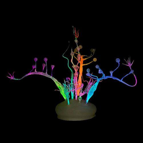 MUNDY HEPBURN Neon glass sculpture