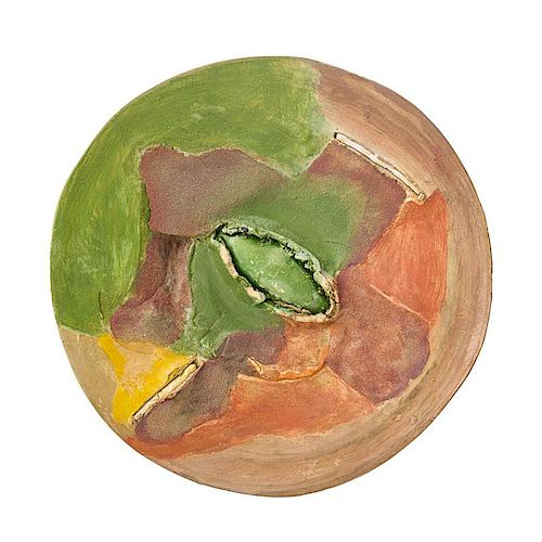 PETER VOULKOS Rare painted charger