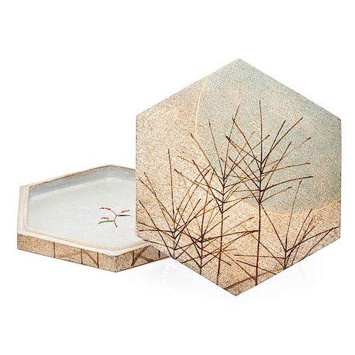 ITO SEKISUI Glazed stoneware box