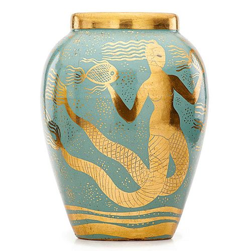 WAYLANDE GREGORY Large mermaid vase