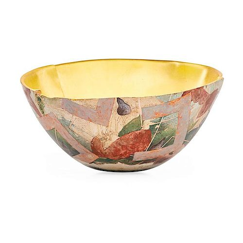 BENNETT BEAN Large gilt bowl