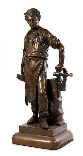 An American Copper Figure Height 63 inches.