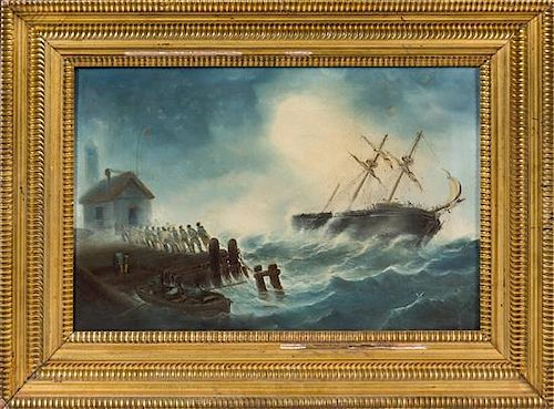 Henry Richards, (American, 19th Century), Shipwreck, 1878
