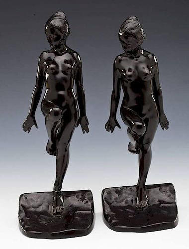 Ronson Art Deco Nude Figural Bookends