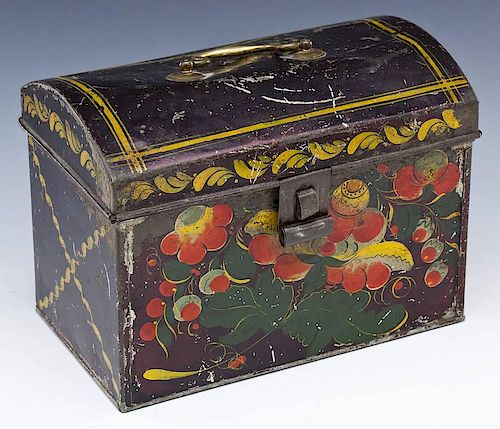 Tole Ware Dome Top Document Box