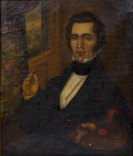 Early 19th Century Folk Art Artist Portrait