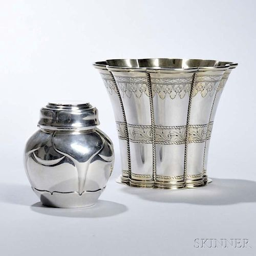 Two Pieces of Danish Sterling Silver Tableware