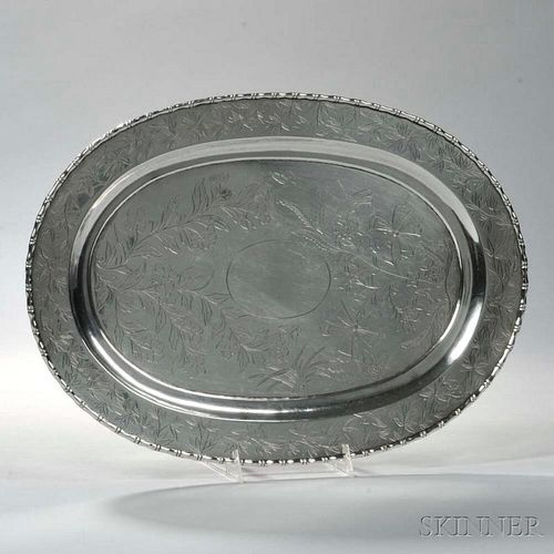 Chinese Export Silver Tray