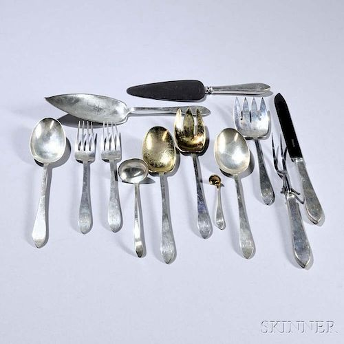 """Thirteen Pieces of Tiffany """"Faneuil"""" Pattern Sterling Silver Flatware"""