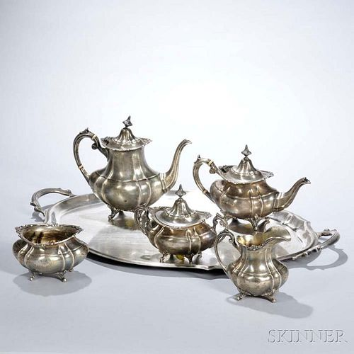 "Six-piece Reed & Barton ""Hampton Court"" Pattern Sterling Silver Tea and Coffee Service"