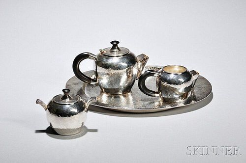 Four-piece Wallace Sterling Silver Tea Service