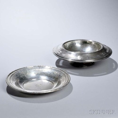 Two American Sterling Silver Center Bowls
