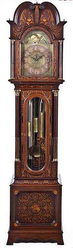 Inlaid 5 Tube Tall Case Clock C 1910