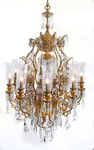 Baccarat Bronze Collection 10 Light Chandelier