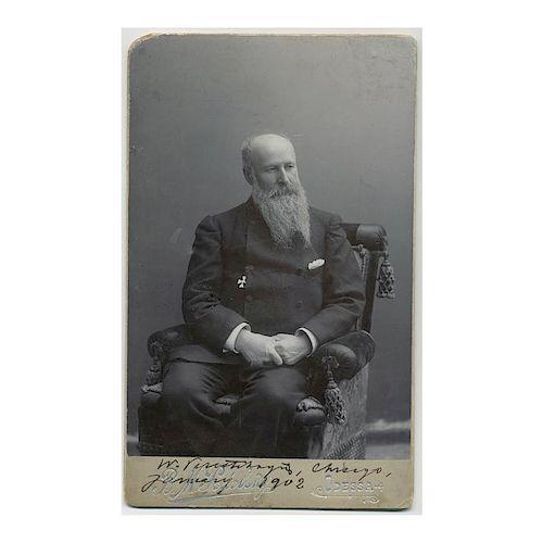 Russian Artist Vasily Vereshchagin, Autographed Photo, 1902