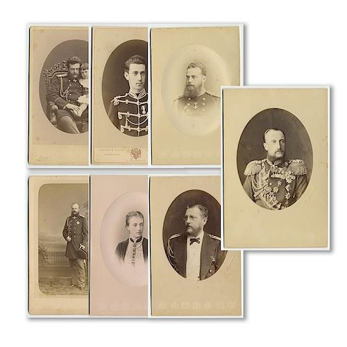 Russian Royalty, Collection of 7 Cabinet Photographs, 1800's