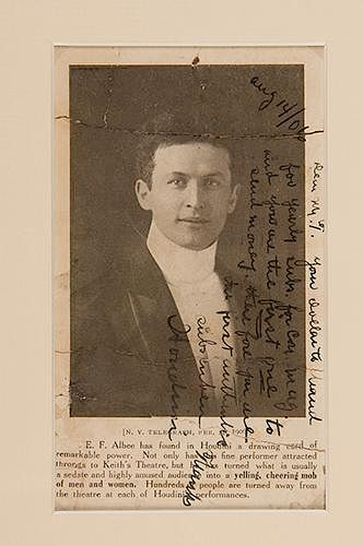 First Subscriber's Copy of the First Issue of Conjurers' Monthly Inscribed and Signed by Houdini, Together with an Inscribed and Signed Photo of Houdi
