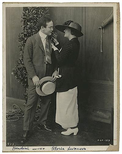 Publicity Photograph of Houdini with Gloria Swanson