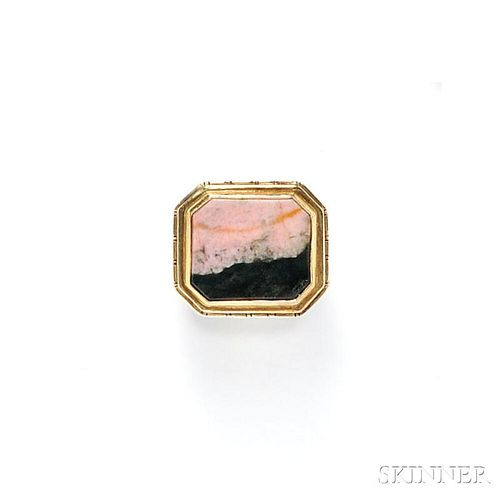 """14kt Gold, Silver, and Hardstone """"Poison"""" Ring"""