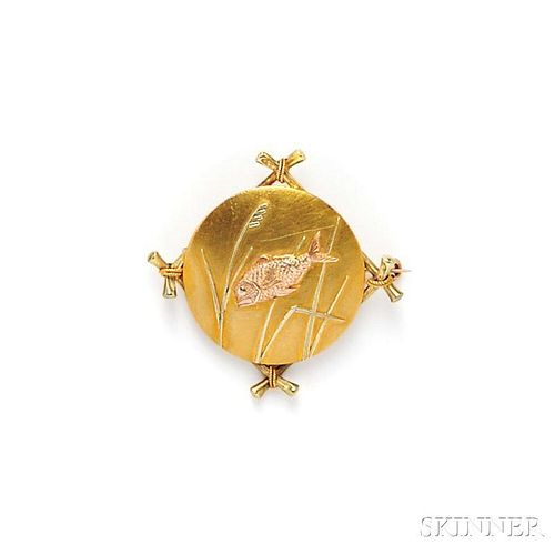 Aesthetic Movement 18kt Gold Brooch, Tiffany & Co.