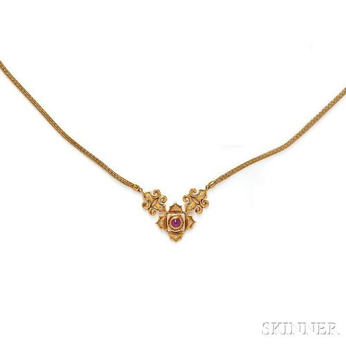 18kt Gold, Ruby, and Diamond Necklace, Lalaounis