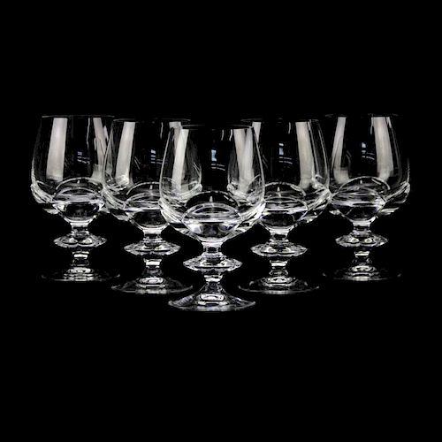 """Five (5) Lalique """"Blois"""" Crystal Goblets"""