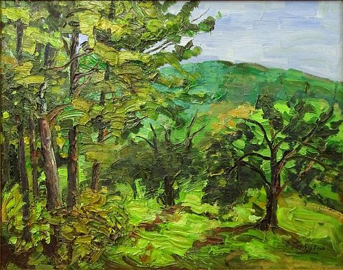 Armand Tatossian, Armenian Canadian (born 1948) Impasto on Canvas, Landscape