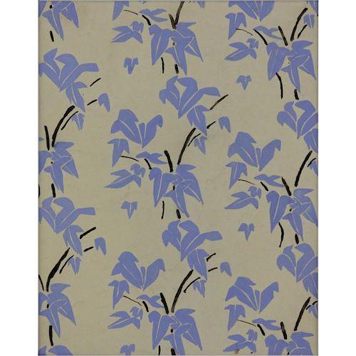 Sonia Delaunay-Terk, Ukrainian (1885-1979) Gouache on Paper, Fabric Design