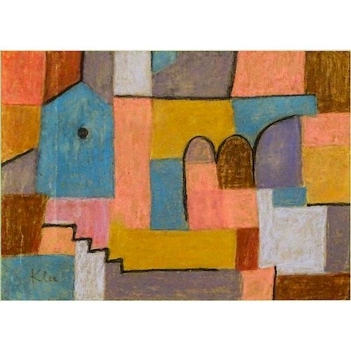 Attributed to: Paul Klee, Swiss (1879-1940) Pastel on Paper
