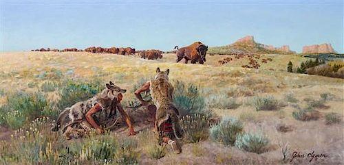 John Ford Clymer, (American, 1907-1989), Stalking Buffalo